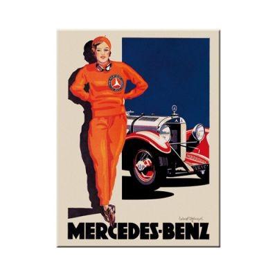 Kühlschrankmagnet Mercedes Benz rote Frau