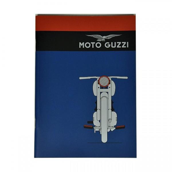 Moto Guzzi Notizheft blau