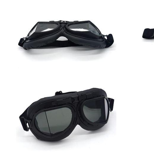 Oldtimer Brille Chrom schwarz getönte Gläser