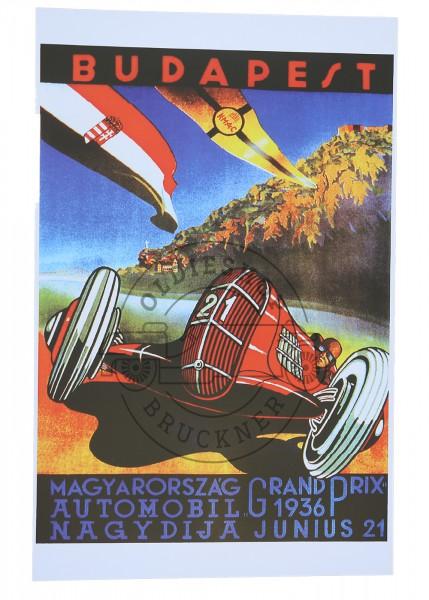 Poster Budapest Grand Prix 1936