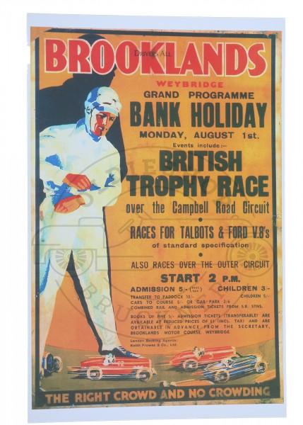 Poster Brooklands British Trophy Race