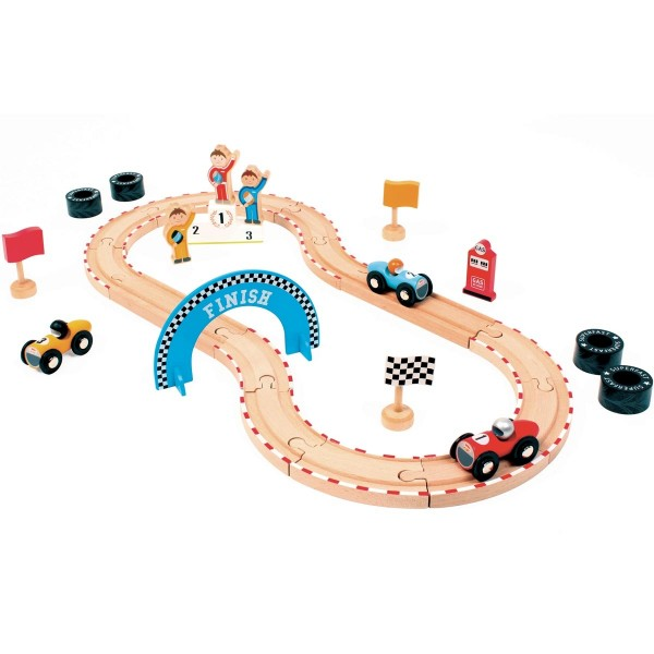 Holzrennbahn klein