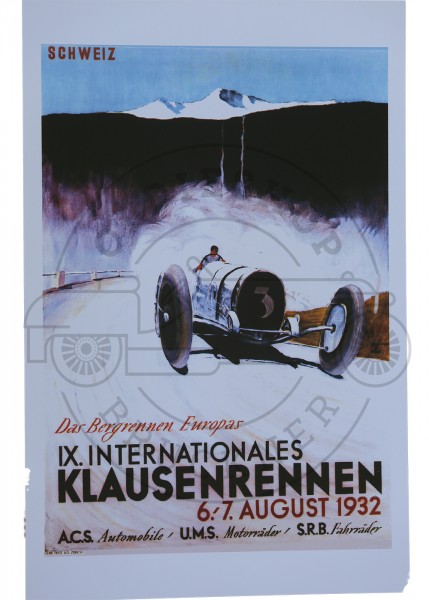 Poster Klauesenrennen 1932