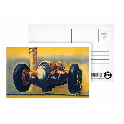 Postkarte Brooklands No 7 Race Car