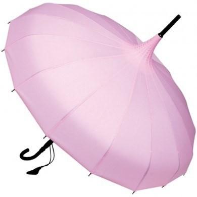 Regenschirm und Sonnenschirm rosa