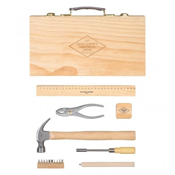 Werkzeugset im edlen Holzkoffer