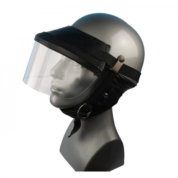 Steck-Visier für Classic Helme aus echtem Leder in schwarz
