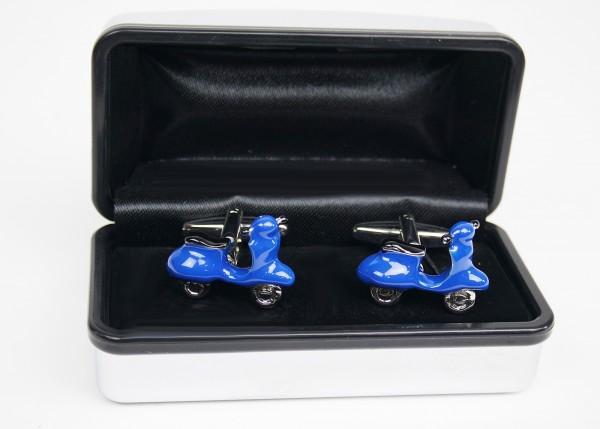 Manschettenknöpfe Roller blau