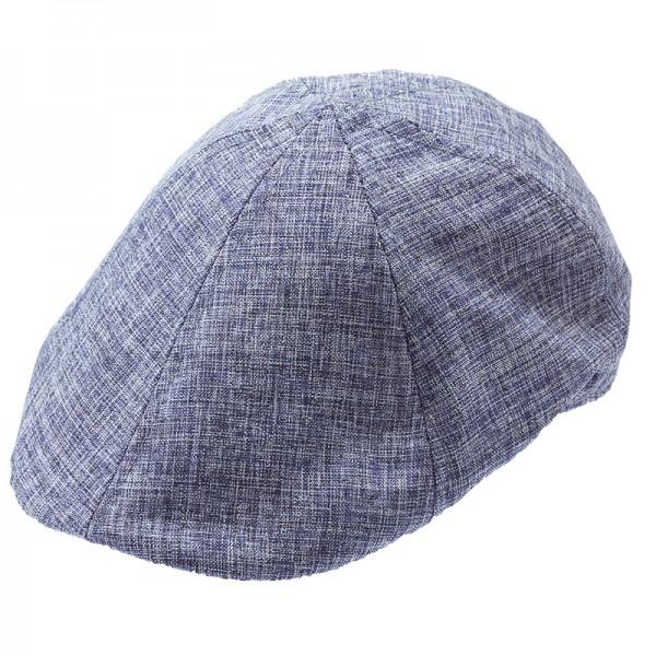 Gatsby Flat Cap aus blauem Leinen für den Sommer