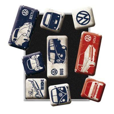 Magnetset 9 Teilig VW Blau