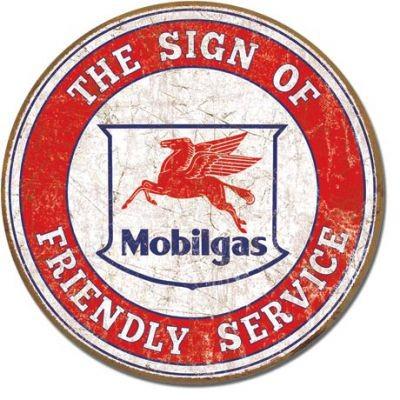 Mobigas Schild rund