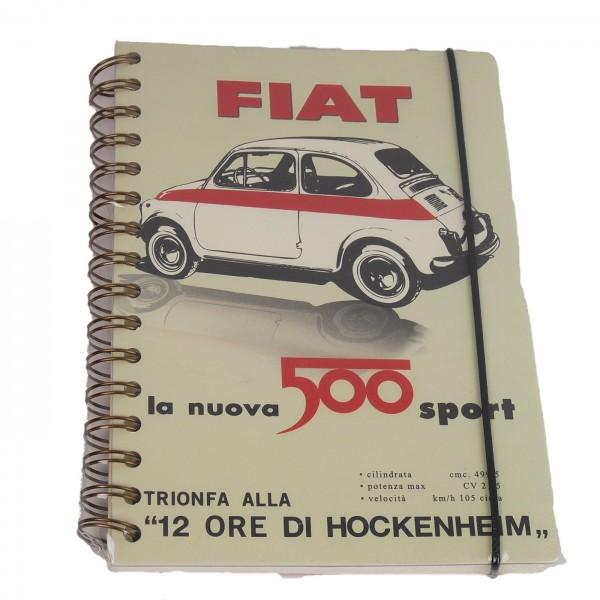 Notizbuch Fiat 500 sport