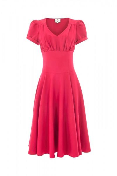 Nadine Tee Kleid in romantischem rot Gr. 38
