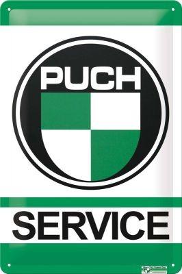 Metallschild Puch Service