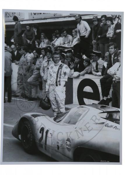 Foto Steve Mc Queen in Le Mans 1971