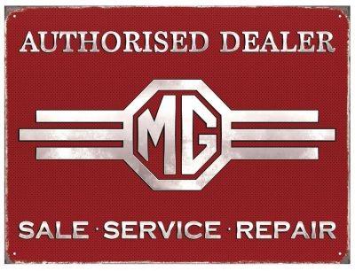 MG Authorisied Dealer Schild USA