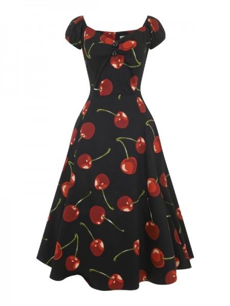 Dolores Kleid mit Kirschen Gr. 34 36,38
