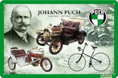 Metallschild Johann Puch