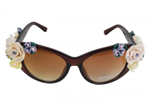 Rosen Sonnenbrille in braun