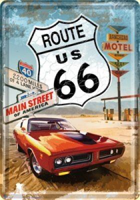 Blechpostkarte Route 66 Motel