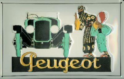 Metallschild Peugeot