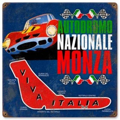 Metallschild Monza