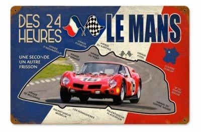 Metallschild Le Mans