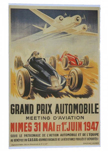 Poster Grand Prix Automobiles 1947