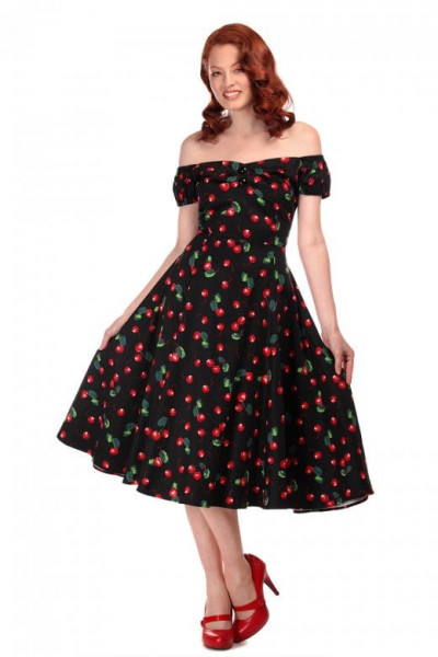 Dolores Cherry Print Dress