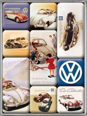 Magnetset 9Teilig VW bunt