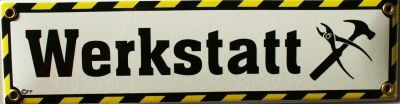 Werkstsatt Emailschild