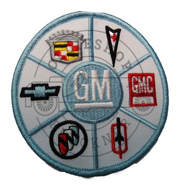 GM General Motors hellblau Aufnäher Patch