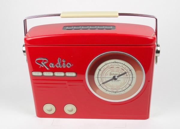 Bleckdose Radio rot klein