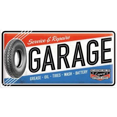 Garage Schild geprägt 50x25cm