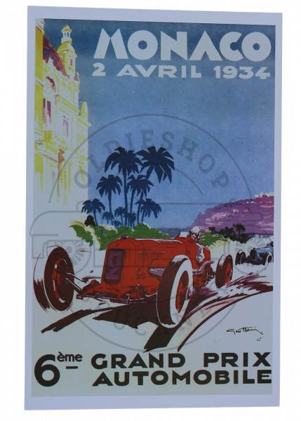 Poster Monaco Grand Prix 1934