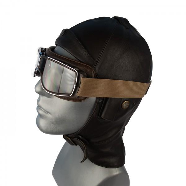 Aviator T2 Brille für Brillenträger in braun mit klarem Glas
