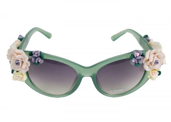 Rosen Sonnenbrille in grün