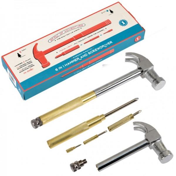 6 In 1 Set Hammer Und Schraubenzieher