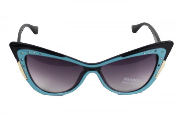 Sonnenbrille im Cadilack Retro Style blau