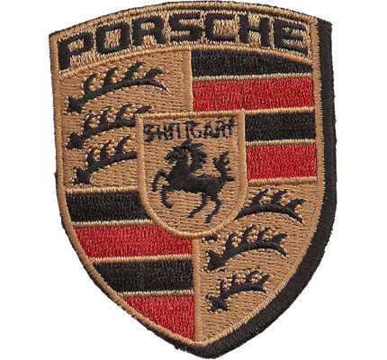 Porsche patch gold