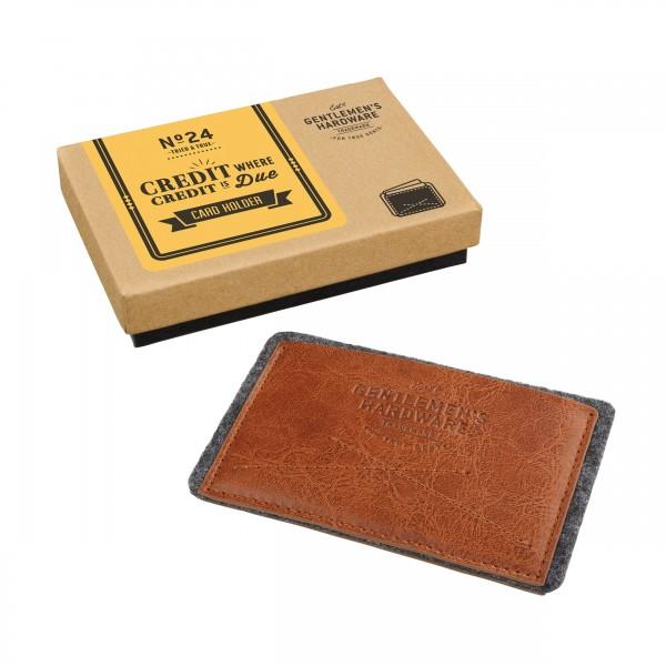 Gentlemens Hardware Kartenetui Leder