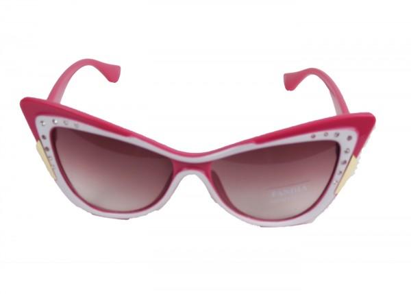 Sonnenbrille im Cadilack Retro Style rosa