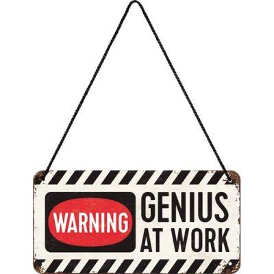 Genius at Work- Hängeschild aus Metall-Copy