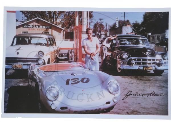 Foto James Dean mit Porsche