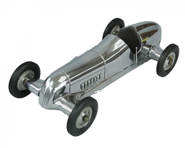 Indianapolis Modellauto Alu mit braunem Leder Sitz
