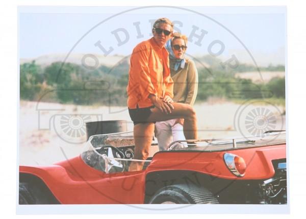 Foto Steve Mc Queen und Faye Dunaway