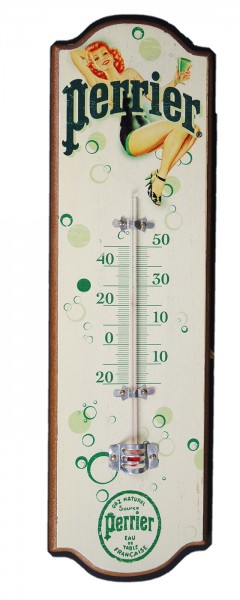 Thermometer Nostalgie Holz Perrier