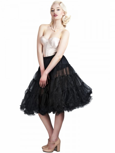 Petticoat schwarz Lola light