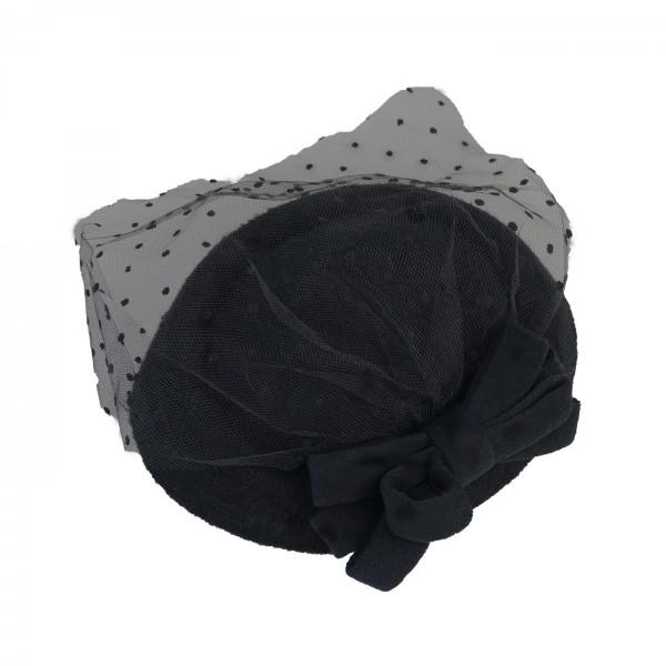 Hut Bow schwarz klein