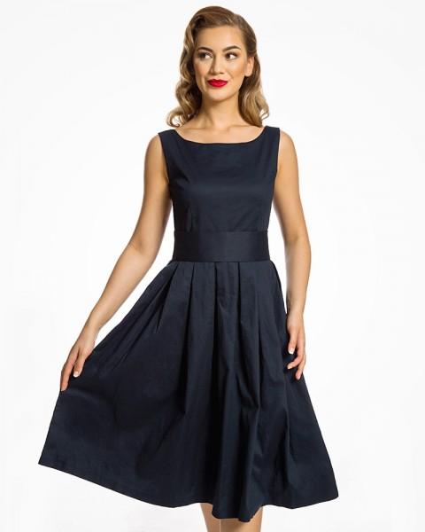 Lana Swing Kleid in Midnight Blue